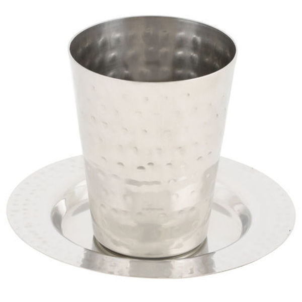 Picture of גביע קידוש נירוסטה מרוקע